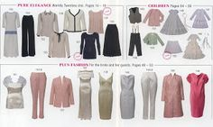Burda Style Magazine February 2013 All Styles at a Glance Line Drawings Great way to wear boucle! Burda Style Magazine, Burda Patterns, Glam Dresses, At A Glance, Rose Dress, Tweed, Tie Dye, Menswear, Plus Size