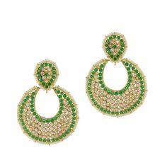 Green Full Moon Earrings Moon Earrings, Full Moon, Crochet Earrings, Sparkle, Unique, Green, Color, Beauty, Jewelry