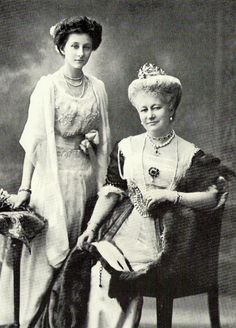 Princess Viktoria Luise and her mother, the Empress of Germany