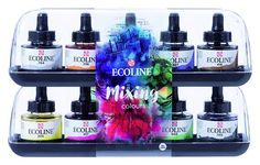 Ecoline Royal Talens Watercolour Inks 10 x