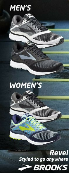 The Revel   Running Shoes  from Brooks Running    Styled to go anywhere, the women's Revel running shoe is our most comfortable shoe on foot.