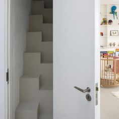 space saving stairs - I fantasize about making a craft room in our attic but these are probably the only kind of stairs I could squeeze in.