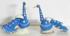 Pair of Blue Peacock (Shell))