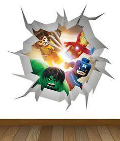 Marvel boys bedroom on pinterest avengers bedroom for Decor8 crack