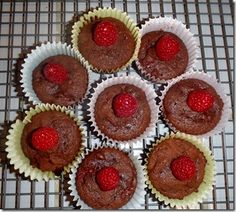 Raspberry Chocolate Coconut Flour Muffins
