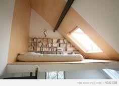 Sleeping and reading loft