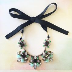 Green and mint necklace Always ethereal statement necklace.             ❤️You will receive a New With Tag Necklace❤️ 📷Only samples are used for pictures purposes.  ✈️Same day shipping. Haveitwearitloveit Jewelry Necklaces