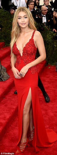 Blonde beauty: Gigi Hadid was dressed down as she walked around Soho but was ravishing in ...