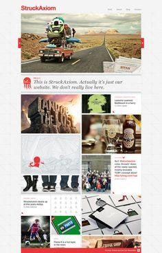 StruckAxiom Site Redesign by Abe Levin, via Behance