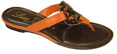 Luisa Dorio Delicate Orange Flat Thong Sandal 10 M US ** You can get more details by clicking on the image.