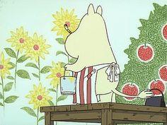 Moomin Wallpaper, Tove Jansson, Moomin Valley, Cartoon Gifs, Vintage Cartoon, Cute Gif, Mellow Yellow, Wall Collage, Aesthetic Anime