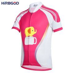 HIRBGOD 2016 new girl child womens cartoon pink pig cycling jersey women short sleeve summer style cute bike sport jerseys,NM154-in Cycling Jerseys from Sports & Entertainment on Aliexpress.com | Alibaba Group