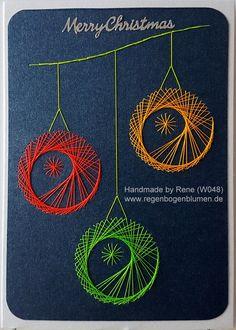 Grußkarten-Set Weihnachten 048 NEON - Motiv: Christmas Kugeln 03_Neon - Copyright Motiv: Form-A.Lines - Doppelkarte mit Umschlag im Format A6