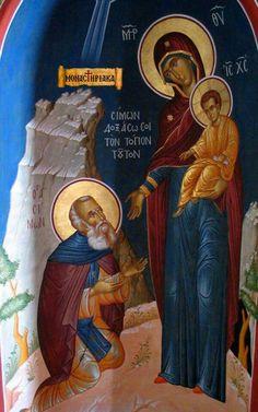 Αγιος Σιμων ο μυροβλητης Byzantine Icons, Orthodox Christianity, Orthodox Icons, Kirchen, Madonna, Believe, Greek, Spirituality, Painting