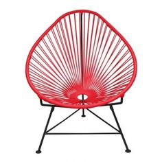 Innit Designs Acapulco Chair - Red Black (€380) ❤ liked on Polyvore featuring home, outdoors, patio furniture, outdoor chairs, chairs, woven patio furniture, indoor outdoor furniture and innit