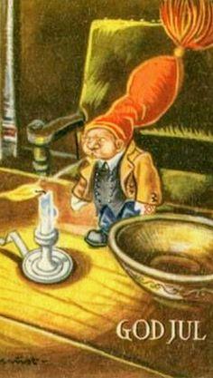 Vintage Postcards, Troll, Norway, Christmas Postcards, Painting, Art, Costumes, Secret Santa, Vintage Travel Postcards