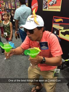 Jurassic World Margarita Guy at Comic Con! YES!