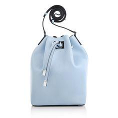 Handbags for spring/summer - the best colors: Michael Kors Miranda LG Drawstring Messenger Sky by Fashionette