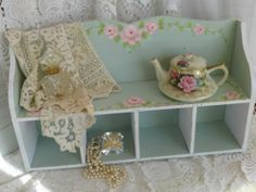 PALE GREEN SHELF BOX So pretty and available on eBay.  Artist d.a.sommers