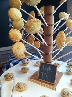 Must have for a summer party? An Apple Pie Tree!  By Blue Plate Catering in Chicago