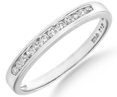 Diamond Eternity Ring, 9ct White Gold, Channel Set, Round Cut, 0.15 Carat Diamond Weight, I1-I2 Diamond Clarity, Ring Size U, Model PR6863W (T) Ariel, http://www.amazon.co.uk/dp/B000RHNC5Q/ref=cm_sw_r_pi_dp_265Xtb047VWP2