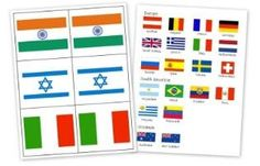 Lots of free geography resources: flag printables, lesson plan ideas, and notebooking pages