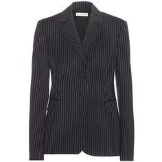 Altuzarra Striped Wool Jacket (€705) ❤ liked on Polyvore featuring outerwear, jackets, blue, altuzarra jacket, blue jackets, stripe jacket, striped jacket and blue wool jacket