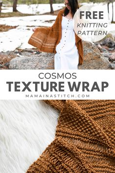 This easy knit shawl pattern is so beautiful for the spring and summer months. All of the stitches used are beginner friendly and I love the yarn too! Free knitting pattern available for this beautiful wrap. via @MamaInAStitch Knit Wrap, Cosmos, Knitting Patterns Free, Free Knitting, Crochet Patterns, Knitting Projects, Texture, Stitch, Knit Crochet