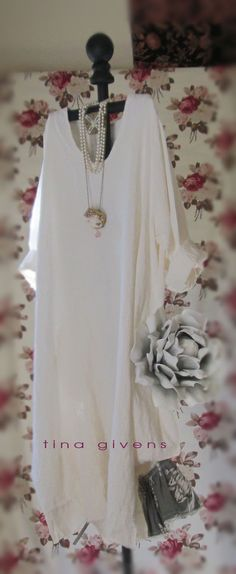 tina givens couture/ Eloise Dress - perfect beach dress I love the length & the material