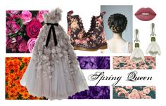 """""""Spring Queen"""" by ruama-haine on Polyvore featuring moda, Dr. Martens, Lime Crime e Marchesa"""