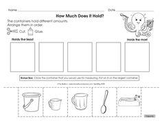 Placeholder                                                                                                                                                                                 More Measurement Kindergarten, Measurement Activities, Math Measurement, Kindergarten Lessons, Kindergarten Worksheets, Math Lessons, Teaching Math, Math Activities, Teaching Ideas