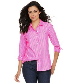 Neon Oxford Stripe Button Down