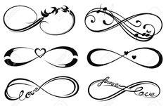 Amor Infinito, Para Siempre Símbolo Ilustraciones Vectoriales, Clip Art Vectorizado Libre De Derechos. Image 41771508.