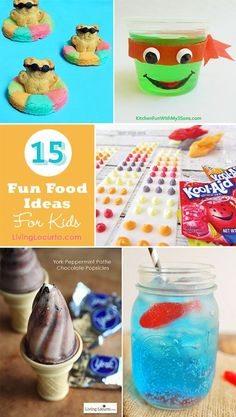 15 Fun Food Ideas For Kids! So cute! Creative and easy recipes for kids. Simple party ideas and snacks. LivingLocurto.com