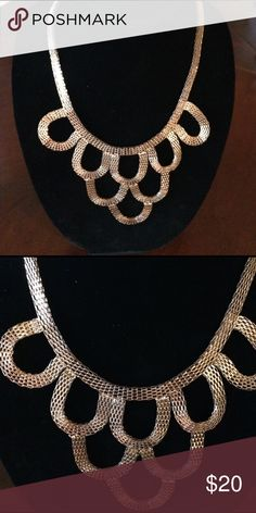 Gold Mesh Statement Necklace. Gold Mesh Statement Necklace. Jewelry Necklaces