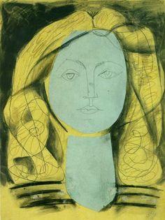 """yolandart: """" Pablo Picasso. """"Portrait of Françoise Gilot 3"""", 1946. """""""
