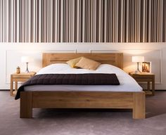 Solid wood double bed OAK AZUR | Bed - Ethnicraft