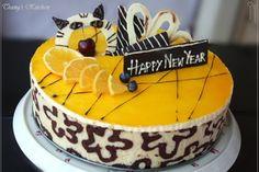 Trang's Kitchen - Orange Mousse Joconde Cake