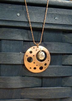 Mission to Mars Copper and Silver Pendant Necklace. $37.00 USD, via Etsy.
