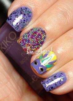 I'm A Nail Art Addict!: Mardi Gras #nail #nails #nailart