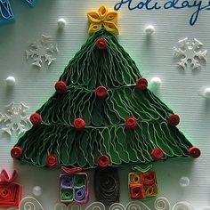 Quilling - Christmas Tree