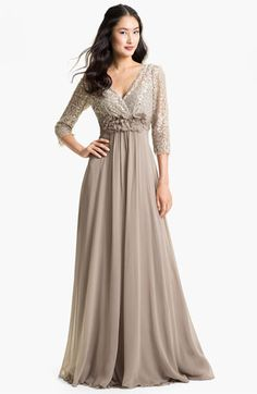 Teri Jon Lace & Chiffon A-Line Gown | Nordstrom - really like this one