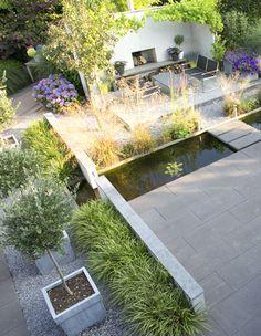 Garden Pool, Garden Plants, Modern Landscaping, Garden Landscaping, Garden Cottage, Home And Garden, Outdoor Spaces, Outdoor Decor, Woodland Garden