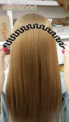 Hairdressing Weaving Artifact - Hairdressing Weaving Artifact You are in the right place about hair videos Here we offer you the mo - Easy Hairstyles For Long Hair, Pretty Hairstyles, Girl Hairstyles, Hairstyle Ideas, Stylish Hairstyles, Braided Hairstyles, School Hairstyles, Wedding Hairstyles, Running Late Hairstyles
