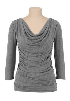 3/4 Sleeve drape neck top - maurices.com
