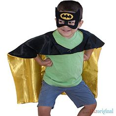 Dazoriginal Batman Superhero Kids Cape Mask Children's Costume, Dress up Boys * See this great product.