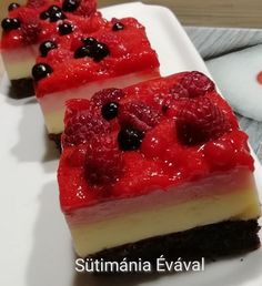 Cheesecake, Food And Drink, Sweets, Kitchen, Hungarian Recipes, Sheet Cakes, Bakken, Cooking, Gummi Candy