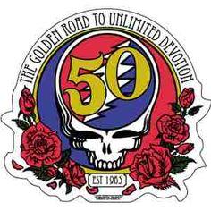 Grateful Dead - 50th Anniversary Logo Sticker #hippieshop
