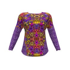 Hey June Handmade Aurora Tee made with Spoonflower designs on Sprout Patterns. The 3d view doesn