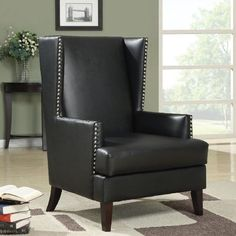 Coaster Furniture 902078 Nailhead Accent Chair #coasterfurniturebedroom